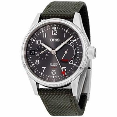 腕時計 オリス メンズ Oris Big Crown ProPilot Grey Dial Canvas Strap Men's Watch 11477464063TSGRN