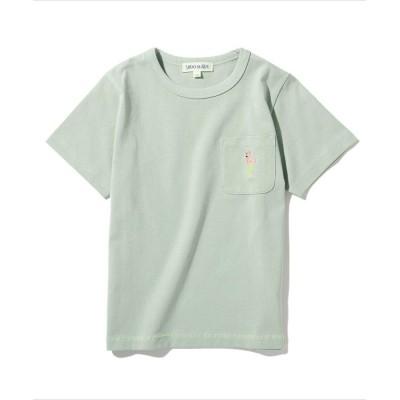 SHOO・LA・RUE/Kids(シューラルー /キッズ) 【90-130cm/オーガニックコットン】ポケット刺繍T