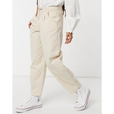 ジェイディーワイ レディース カジュアルパンツ ボトムス JDY pleat detail balloon leg pants in beige