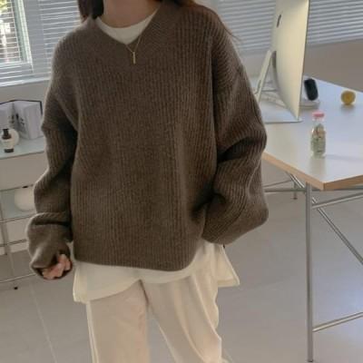 レディース ニット/セーター Dogley Color V Knit