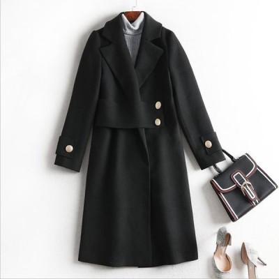 2L~6L 大きいサイズ ぽっちゃりさん  通勤  通学 パーティー ラシャ コート