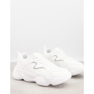 トゥラッフル メンズ スニーカー シューズ Truffle Collection chunky dad sneakers in white White