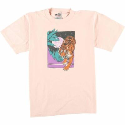 ONEITA アニマルプリントTシャツ USA製 レディースM /eaa064060