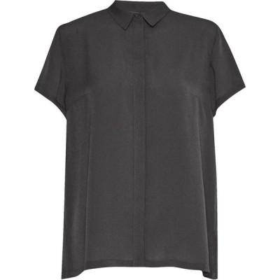 フレンチコネクション French Connection レディース ブラウス・シャツ トップス Classic Crepe Short Sleeve Shirt Grey