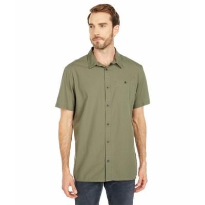 クイックシルバー シャツ トップス メンズ Taxer Wash Short Sleeve Shirt Kalamata