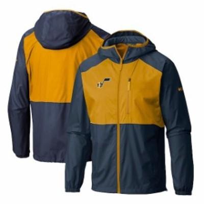 Columbia コロンビア スポーツ用品  Columbia Utah Jazz Navy Flash Forward Full-Zip Windbreaker Jacket
