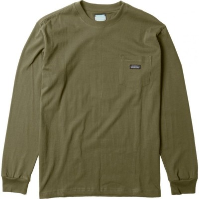 ヴィスラ Vissla メンズ 長袖Tシャツ ポケット トップス creators block eco pocket long-sleeve t-shirt Dark Olive