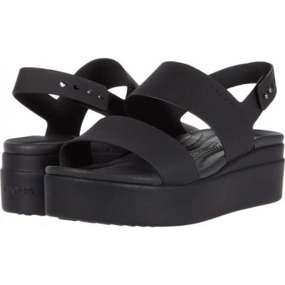 クロックス Crocs レディース サンダル・ミュール ウェッジソール シューズ・靴 Brooklyn Low Wedge Black/Black