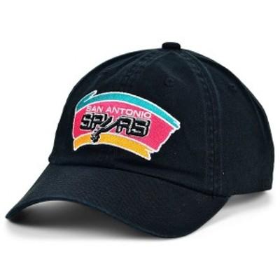 ミッチェル&ネス メンズ 帽子 アクセサリー San Antonio Spurs Hardwood Classic Basic Adjustable Dad Hat Black
