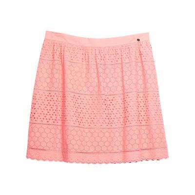 LUCKYLU  Milano ひざ丈スカート サーモンピンク 48 コットン 100% ひざ丈スカート