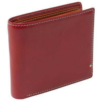 (ADC/エーディーシー)イタリアンレザースマート二つ折り財布/メンズ レッド