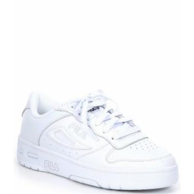 フィラ レディース スニーカー シューズ LNX-100 Leather Lace-Up Sneakers White/FILA Navy/FILA Red