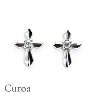 ピアス ダイヤモンド0.02ct プラチナ900 クロス 日本製 プレゼント 誕生日 送料無料