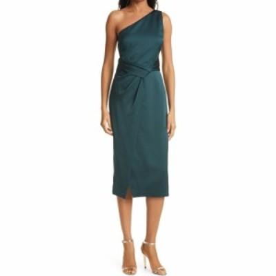 テッドベーカー TED BAKER LONDON レディース ワンピース タイト ワンピース・ドレス One-Shoulder Pleated Waist Satin Sheath Dress Da