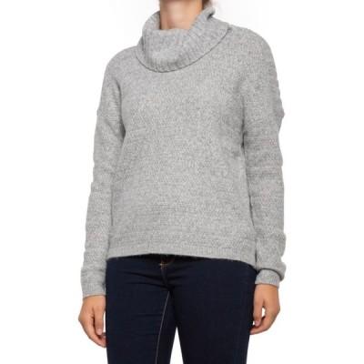 レイチェル ゾー Rachel Zoe レディース ニット・セーター トップス Textured Stitch Turtleneck Sweater Whitecap Grey Hthr