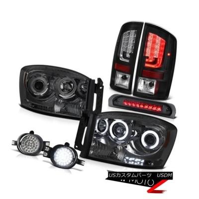 テールライト 07-08ダッジラム1500 ST灯台スモーキーヘッドランプフォグランプ高灯火SMD 07-08 Dodge Ram 1500 ST T