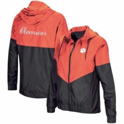 Colosseum コロセウム スポーツ用品  Colosseum Clemson Tigers Womens Orange First Class Full-Zip Windbreaker Jacket