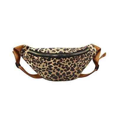 Orityle Women Fanny Packs Leopard Print Waist Bag Hip Belt Purse Bum Travel Waist Pack for Adults Teens Brown【並行輸入品】