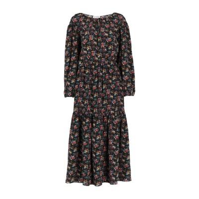 SAINT LAURENT ロングワンピース&ドレス ブラック 34 シルク 100% ロングワンピース&ドレス