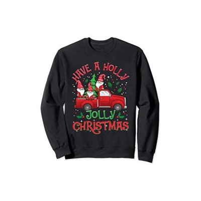 ホリージョリークリスマスノームレッドトラッククリスマスギフト トレーナー