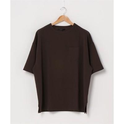 tシャツ Tシャツ 梨地 ビッグシルエット半袖Tシャツ