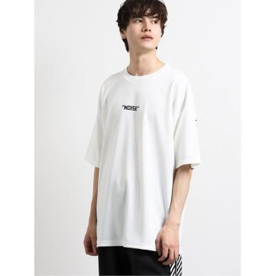 【タカキュー】 ペイントグラフィック クルーネック半袖BIGTシャツ メンズ ホワイト M TAKA-Q