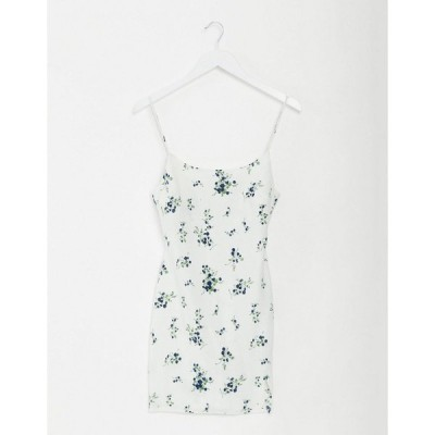 エイソス レディース ワンピース トップス ASOS DESIGN cami mini slip sundress in floral print White based floral
