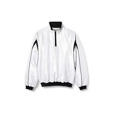 [エスエスケイ] 長袖シャツ 蓄熱プレジャン ハーフZIP長袖(中綿) メンズ ホワイト×ブラック (1090) 日本 XO2 (日本サイズ