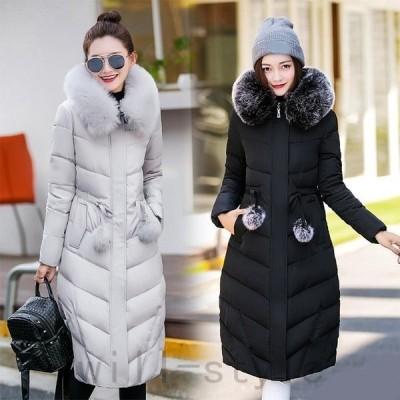 コートジャケットダウンレディースアウターロングコートダウンジャケットダウンコート大きいサイズ中綿コート防寒通勤フード付き