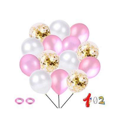 ゴールド紙吹雪風船セット 102個入り 風船セット 誕生日 パーティー 飾り付け プロポーズ 結婚式 飾り 紙吹雪バ
