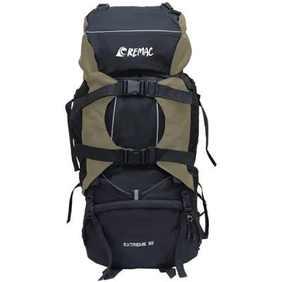 【REMAC】 バックパック 80L 大容量 防水 アウトドア 防災 災害 登山 旅行 リュックサック (コヨーテ)