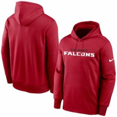 """ナイキ メンズ パーカー """"Atlanta Falcons"""" Nike Fan Gear Wordmark Performance Pullover Hoodie - Red"""