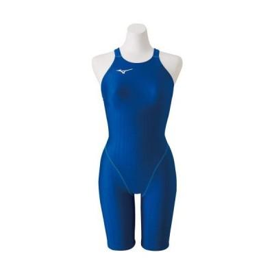 [ミズノ公式] 競泳用ハーフスーツ(レースオープンバック)[ジュニア] ブルー
