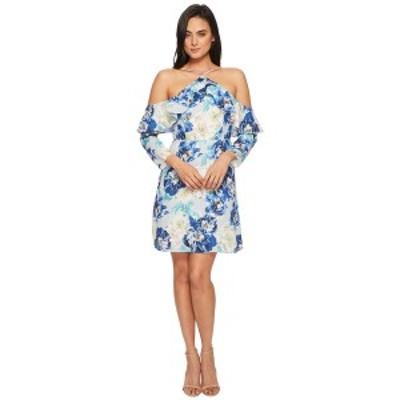 セセ レディース ワンピース トップス Iris Off the Shoulder Ruffle Floral Dress Waterfall