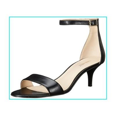Nine West Women's Leisa Leather Heeled Dress Sandal, Black Leather, 7.5 M US【並行輸入品】