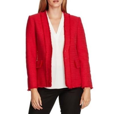 ヴィンスカムート レディース ジャケット&ブルゾン アウター Cotton Tweed Jacket RHUBARB
