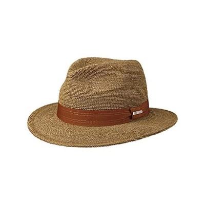 特別価格Stetson Crochet Traveller Raffia Hat Men Brown 7 1/4-7 3/8好評販売中