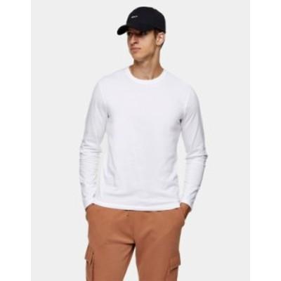 トップマン メンズ シャツ トップス Topman classic organic cotton T-shirt in white White