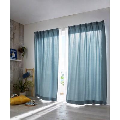 デニム調遮光カーテン ドレープカーテン(遮光あり・なし) Curtains, blackout curtains, thermal curtains, Drape(ニッセン、nissen)