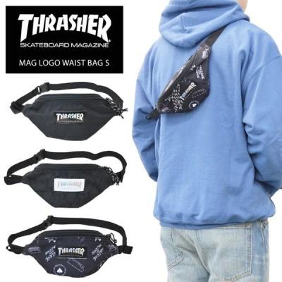 THRASHER スラッシャー MAG LOGO WAIST BAG S ミニ ウエストバッグ ボディーバッグ ショルダーバッグ THR-110 ネコポス便発送で送料無料