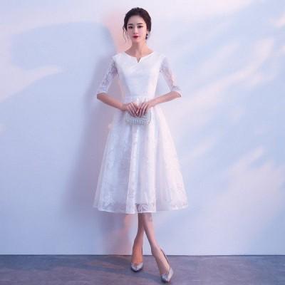 パーティードレス お呼ばれドレス 結婚式ドレス 結婚式 ワンピースドレス