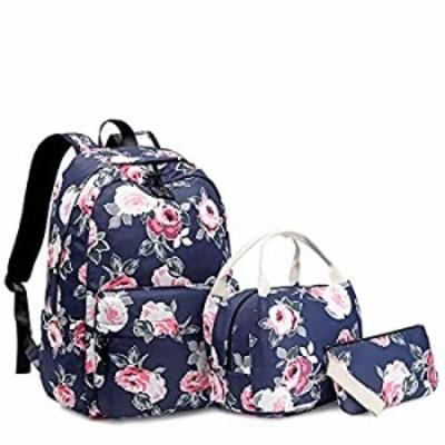 Sunborls Pastoral Nylon Backpack Girls Peony Lightweight Cute Elementary School Bag Women College Backpack Water Resistant Bookb
