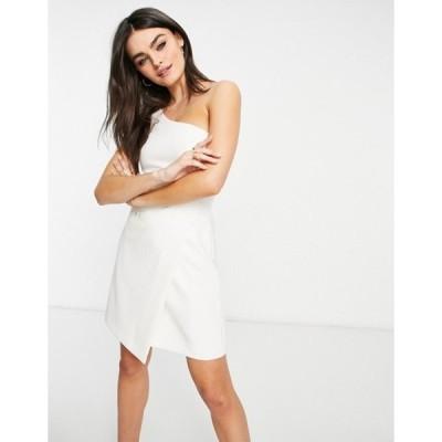 フレンチコネクション レディース ワンピース トップス French Connection Whisper one shoulder mini dress in white
