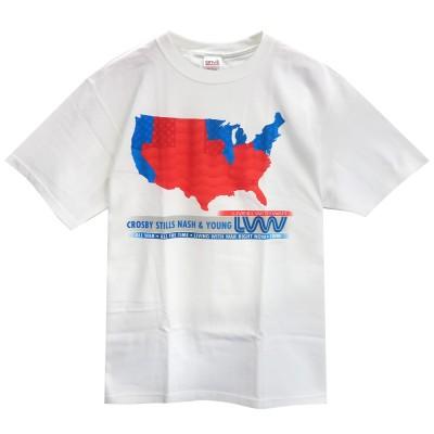 CROSBY STILLS NASH & YOUNG クロスビー、スティルス、ナッシュ&ヤング - Red State Blue State / 限定 / Tシャツ / メンズ 【公式 / オフィシャル】(M)