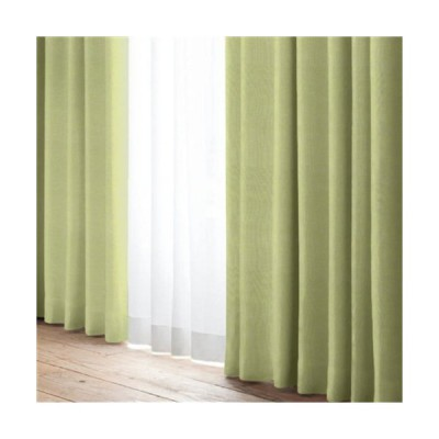 [100X135]遮光4枚入りカーテン YDD STAND 4P 4枚入 グリーン