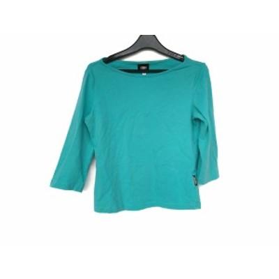 ヴェルサーチジーンズ VERSACE JEANS COUTURE 七分袖Tシャツ サイズXS レディース 美品 - ライトブルー【中古】20200523