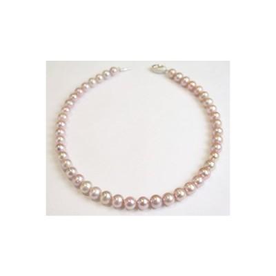 クリスマスプレゼント ネックレス 真珠 パール 淡水真珠 ピンク 誕生日