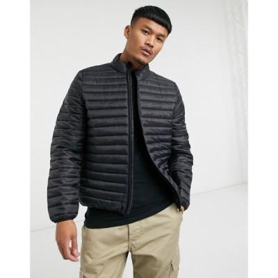 エイソス ASOS DESIGN メンズ ジャケット スタンドカラー アウター quilted jacket with stand collar in black ブラック