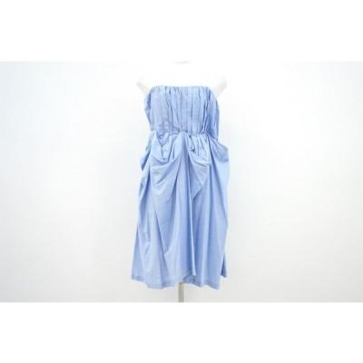 #snc  バイマレーネビルガー ドレス 32 水色 ビスチェ風 ピンボーダー レディース [509984]