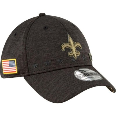 ニューエラ New Era メンズ キャップ 帽子 Salute to Service New Orleans Saints 39Thirty Stretch Fit Black Hat